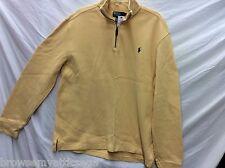Mens Polo Ralph Lauren Yellow Half Zip Pullover Mens Large