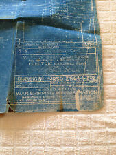"WW2 ORIGINAL BLUEPRINT VICTORY SHIP ELECTRIC LIGHTING PLAN CONVERSION 14"" X 75"""