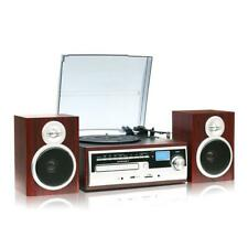 TechPlay ODC38WD Record Player Turntable Stereo Speakers Bluetooth AM FM REFURB