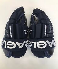"New Pro stock Eagle Aero Pro 13.5"" senior glove ice hockey gloves sr. navy white"