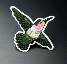 Hummingbird Bird Embroidered Applique Patch Iron On / Sew On Clothing Patches
