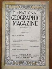 The National Geographic Magazine September 1918 Ships American People Industrial