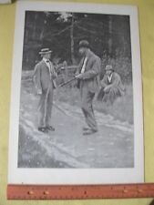 Vintage Print,MEN OF THE ROAD#1,AB.Frost,PF.Collier,Book of Drawings,1904