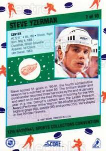 1991 Score National #7 Steve Yzerman