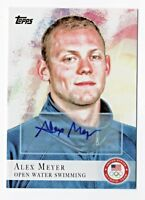 2012 Topps USA Olympic Team Autograph #99 Alex Meyer Open Water Swimming