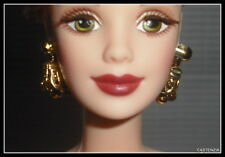 Jewelry Mattel Barbie Cafe Society Brown Beaded Earrings Accessory For Diorama