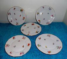 "5 Vintage 6"" Bread & Butter Plates Circa 1930's Furstenberg Small Flowers FUR4"