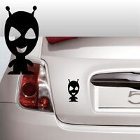 adesivi stickers auto little ufo space alien adesivo spazio mostro