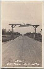 1936 DEER RIVER Minnesota Minn RPPC Postcard Mn ENtrance CHIPPEWA FOREST