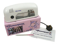 Glamourpuss Boutique 9W UV Nail Lamp White 1 x 9W Bulb Gel Manicure Cure Art