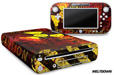 Skin Decal Wrap for Nintendo Wii U Gaming Console & Controller Sticker MELTDOWN