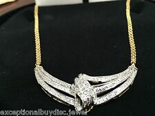ETERNITY NATURAL ETERNITY DIAMOND NECKLACE ANGEL WINGS  18 INCH + FREE EARRINGS!