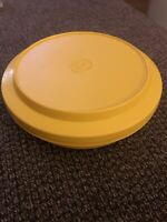 Vintage Tupperware Yellow Seal n Serve Bowl #1206 with Yellow Plate Seal #1207