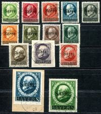 SAAR 1920 18-31 gestempelt TADELLOS geprüft BPP 1900€++(Z7783