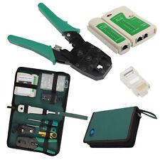 RJ45 RJ11 Crimper Lan Ethernet Network Kit Crimp Cable Tester Punch Impact Tool