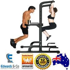 Home Gym Station Equipment Bench Set Pull Up Press Bar Dip Leg Multi Chin Push