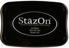 STAZ-ON SOLVENT INKPAD ~JET BLACK CODE SZ-31