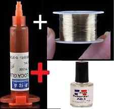 KIT COLLA UV TUBO 5G + DEBONDER RIMUOVI COLA + FILO MOLIBDENO 1 MET. LCD DISPLAY