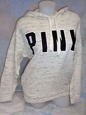 NEW Victoria's Secret Pink Game Day Pullover Hoodie Oversized Oatmeal Cream XS S