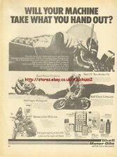 Shell Oil Motor Oils Motorcycle 1977 Magazine Advert #2925