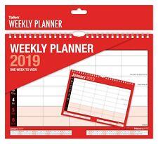 2019 Weekly Planner Calendar One Week to View Spiral Bound Organiser 5 column