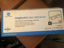 Lot of 2 Konica Minolta MagiColor 2400/2500 Series BLACK High Capacity K Type AM