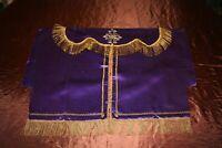 Conopée en soie violette et fil d'or XIXe Siècle