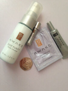 KOSE Japan AWAKE SET 4 items deep purity cleanser + wrinkle cream 7ml + vial et