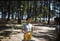 Pretty Woman Woods 1950s 35mm Slide Red Border Kodachrome Fashion