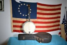 BRUNO Magic Wonder Tenor 4 String Banjo Vintage  w/case