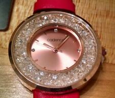 Rare Cadence ladies watch pink band with loose crystals