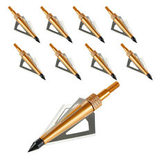 Archery 3-Blade Broadheads Fast Express Replacement Arrowheads 125 grain for DIY