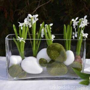 Rectangle clear Terrarium vase handmade cubic/square 30 cm flower centrepiece