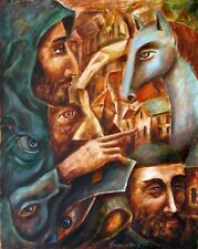 ORIGINAL Painting Oil canvas Modern contemporary  Art surrealism by Pronkin 2019