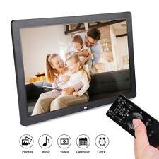 17 inch HD Digital Photo Picture Frame Alarm Clock Player Album Remote Control