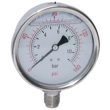 AIR-PRO/HY-FITT Manómetros - 100mm 0-40 gly BSPP Base Conexión 1-02624
