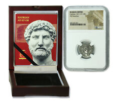 Emperor Hadrian Roman SILVER Denarius Builder of Hadrian's Wall - 76 - 117 AD HG