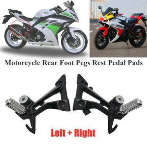 Motorcycle Bike Rear Foot Pegs Rest Pedal Pads Foot Bracket Footrest Shift Lever