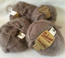 Chaleureuse Yarn vintage 40% mohair chat botte Roubaix France 40 gram Lot of 4