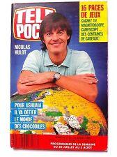 Télé Poche 25/07/1988 N.Hulot va défier les crocodiles