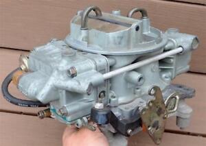 Holley 650 cfm 4 Barrel Marine Carburetor 80552 Electric Choke Spread Bore NICE