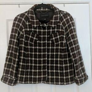 BANANA REPUBLIC Wool Blend Plaid Blazer Sz 12