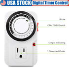 120V Electric Digital Timer Switch 24 Hrs Appliance Control for Lighting System photo