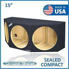 "15"" Triple Sealed Sub Box Triple 15"" Subwoofer Enclosure Ground Shaker Box"