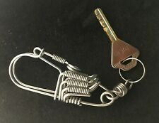 Handmade Stainless Steel Keychains Key ring Key chain Holder with Snap Hook 4
