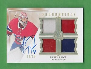 2019-20 The Cup Foundations Jersey Autographs #FCP Carey Price 08/15