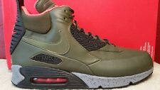 NIKE AIR MAX 90 SNEAKERBOOT WNTR Size 13 Green Black Grey 684714-300 Mens Boots