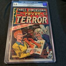 3-D Tales from the Crypt of Terror #2 Three Dimensional CGC 2.0 1954 EC Comics