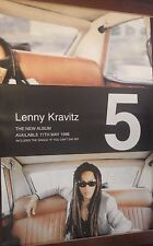 "40x60"" Subway Poster~Lenny Kravitz ""5"" 1998 Album Original Nos Fly Away,I Belong"
