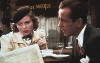 Casablanca original colorized 1980's 35mm film slide Bogart/Bergman at cafe